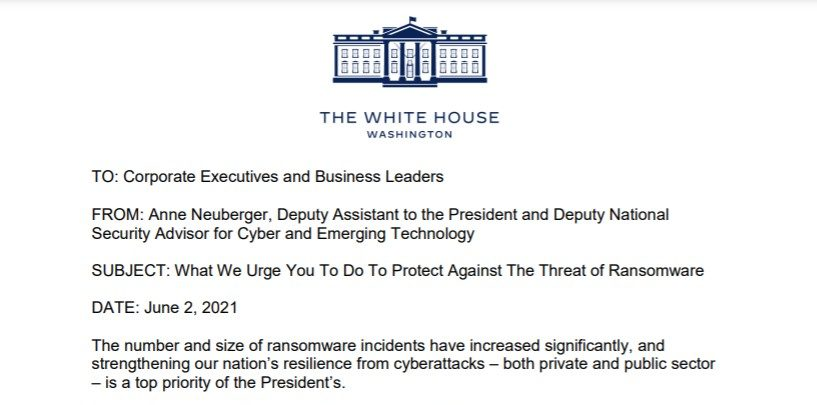 White House Pushes Companies To Take Cybersecurity Threats Seriously.